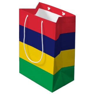 Sacola Para Presentes Média Bandeira de Maurícia