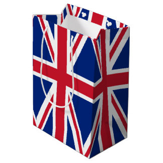 Sacola Para Presentes Média Bandeira de Reino Unido
