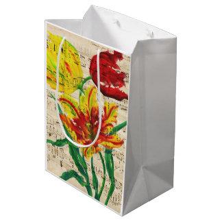 Sacola Para Presentes Média canções da tulipa