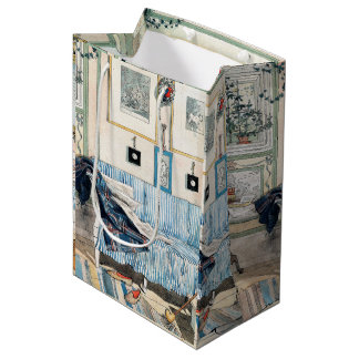 Sacola Para Presentes Média Carl Larsson um saco Home do presente da sala de