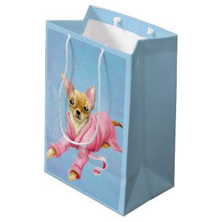 Sacola Para Presentes Média Chihuahua em um saco médio do presente do cão do