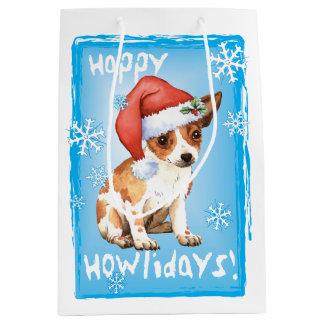 Sacola Para Presentes Média Chihuahua feliz de Howlidays