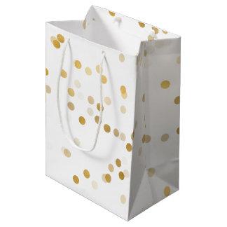 Sacola Para Presentes Média Confetes do encanto do ouro