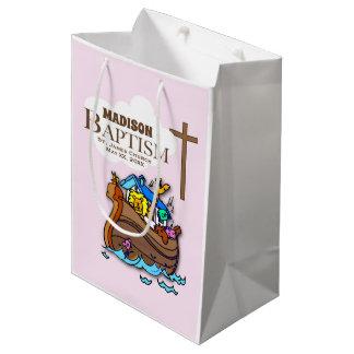 Sacola Para Presentes Média Customizável, a arca de Noah do baptismo do bebé