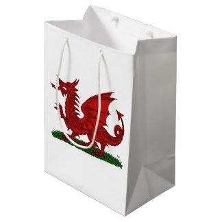 Sacola Para Presentes Média Dragão vermelho de Wales