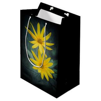 Sacola Para Presentes Média Duas flores amarelas do tupinambo