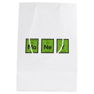 Sacola Para Presentes Média Elemento químico Z3z08 engraçado do dinheiro