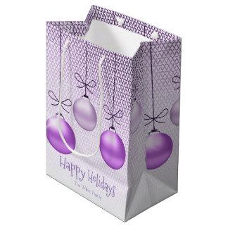 Sacola Para Presentes Média Enfeites de natal ID251 roxo