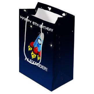Sacola Para Presentes Média Festa de aniversário do navio de Rocket