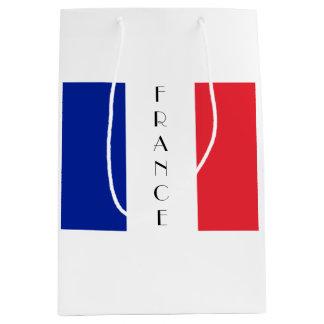 Sacola Para Presentes Média France, saco francês do presente da bandeira