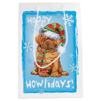 Sacola Para Presentes Média Howlidays feliz Dogue