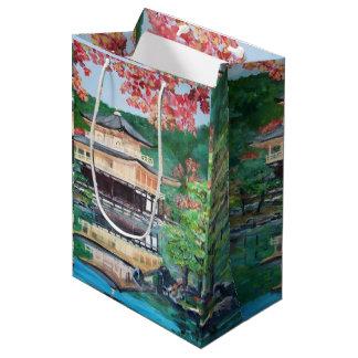 Sacola Para Presentes Média Kinkaku-ji - saco feito sob encomenda do presente