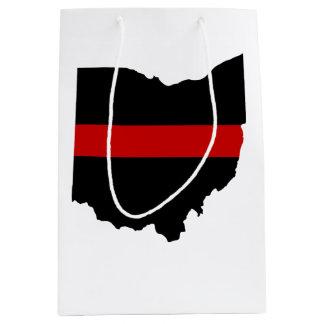 Sacola Para Presentes Média Linha vermelha fina saco do presente de Ohio