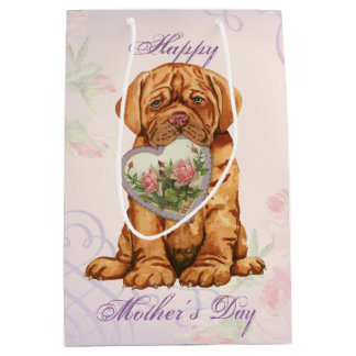 Sacola Para Presentes Média Mamã do coração de Dogue