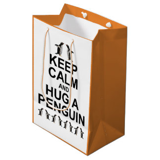 Sacola Para Presentes Média Mantenha a calma e abrace um saco do presente do