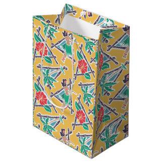 Sacola Para Presentes Média Mel de Hula - amarelo - saco do presente