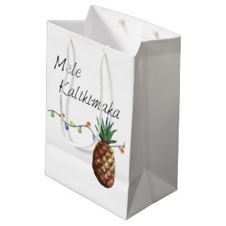 Sacola Para Presentes Média Mele Kalikimaka - saco do presente do Natal