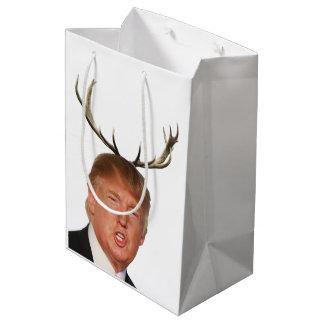 Sacola Para Presentes Média Natal do trunfo: Sr. presidente dos cervos