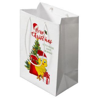 Sacola Para Presentes Média Natal pequeno da galinha do bebê