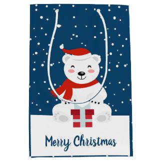 Sacola Para Presentes Média Natal Snowbear