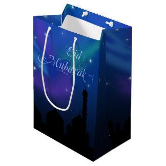 Sacola Para Presentes Média Noite mágica de Eid - saco médio do presente