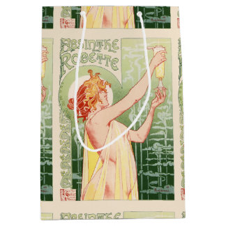Sacola Para Presentes Média O absinto Robette - poster vintage do álcool