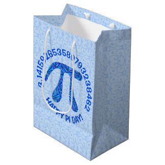 Sacola Para Presentes Média O geek azul da matemática do símbolo do Pi