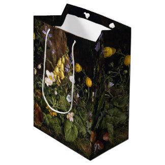 Sacola Para Presentes Média O Wildflower alpino do primavera floresce o saco