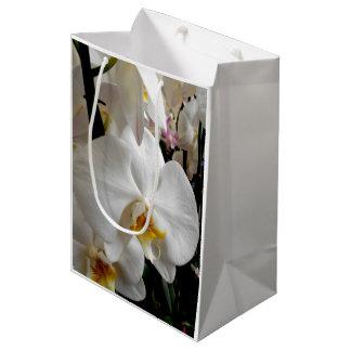 Sacola Para Presentes Média Orquídea branca
