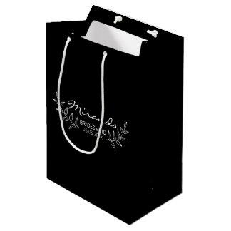 Sacola Para Presentes Média Os louros pretos elegantes personalizaram damas de