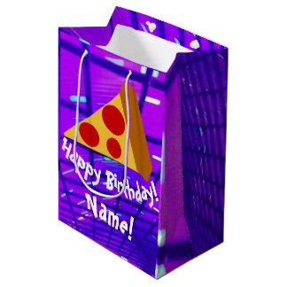 Sacola Para Presentes Média Pizza bonito