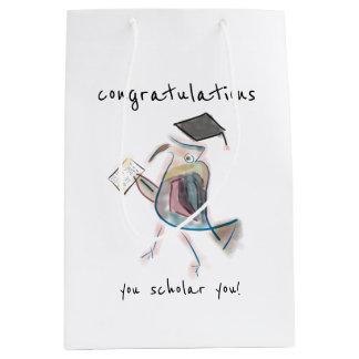 Sacola Para Presentes Média Presente da graduação do saco | dos parabéns