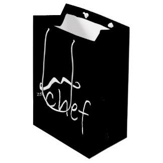Sacola Para Presentes Média Preto francês MGB do cozinheiro chefe de Zee