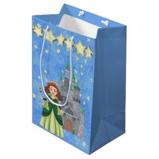 Sacola Para Presentes Média Princesa do livro de histórias no verde com