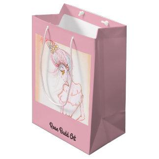 Sacola Para Presentes Média rosa do meio do saco do presente