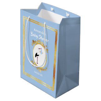 Sacola Para Presentes Média Saco azul Pastel do presente do menino do chá de
