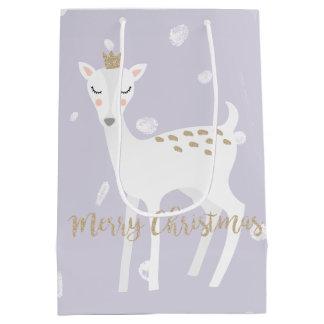 Sacola Para Presentes Média Saco bonito do presente do Natal do Lilac | dos