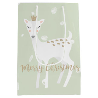 Sacola Para Presentes Média Saco bonito do presente do Natal do verde prudente