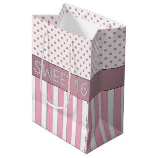 Sacola Para Presentes Média Saco cor-de-rosa do presente do doce 16 do