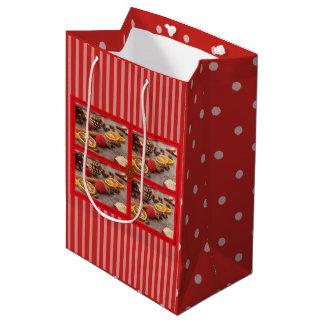 Sacola Para Presentes Média Saco decorativo do presente de época natalícia do