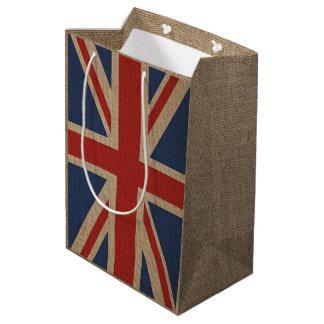 Sacola Para Presentes Média Saco do presente com a bandeira de Reino Unido em
