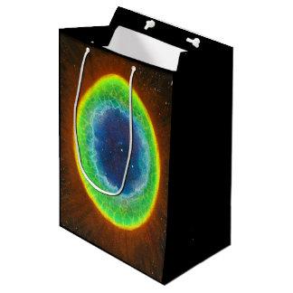Sacola Para Presentes Média Saco do presente da nebulosa do anel