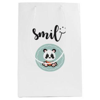 Sacola Para Presentes Média Saco do presente da panda do sorriso - meio