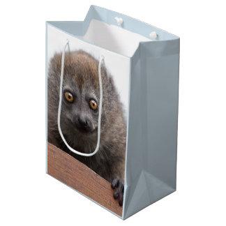 Sacola Para Presentes Média Saco do presente do Lemur do bebê