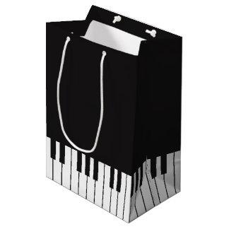 Sacola Para Presentes Média Saco do presente do teclado de piano