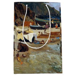 Sacola Para Presentes Média Saco do presente dos pescadores dos barcos de