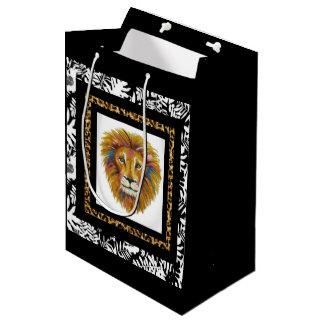 Sacola Para Presentes Média Saco dois do presente do leão