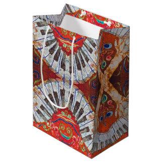 Sacola Para Presentes Média Saco feito sob encomenda do presente do piano R4 -