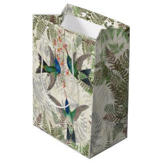 Sacola Para Presentes Média Saco floral do presente das samambaias dos