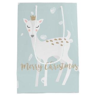 Sacola Para Presentes Média Saco macio bonito do presente do Natal do azul |